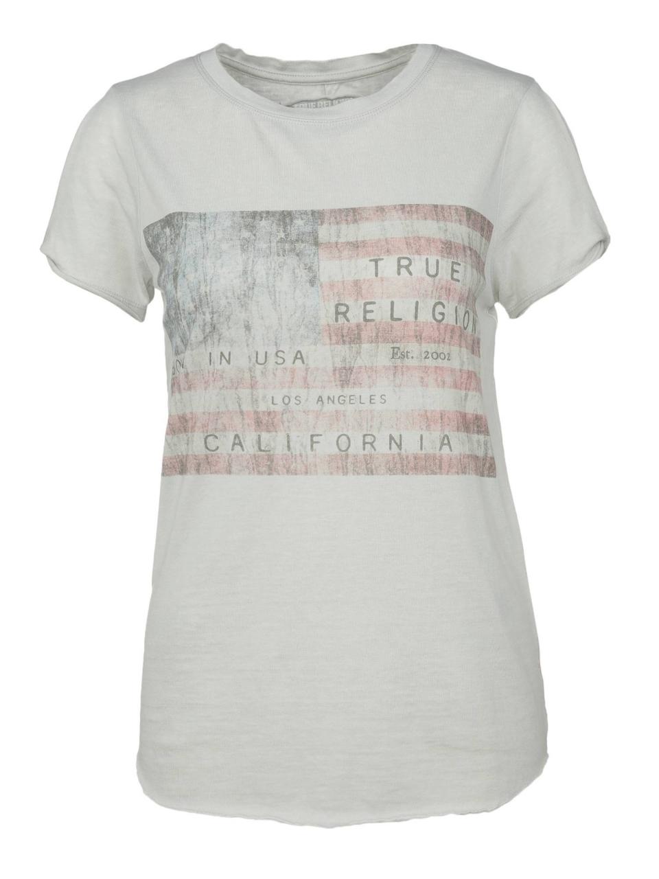 True Religion T-Shirt mit American Flag