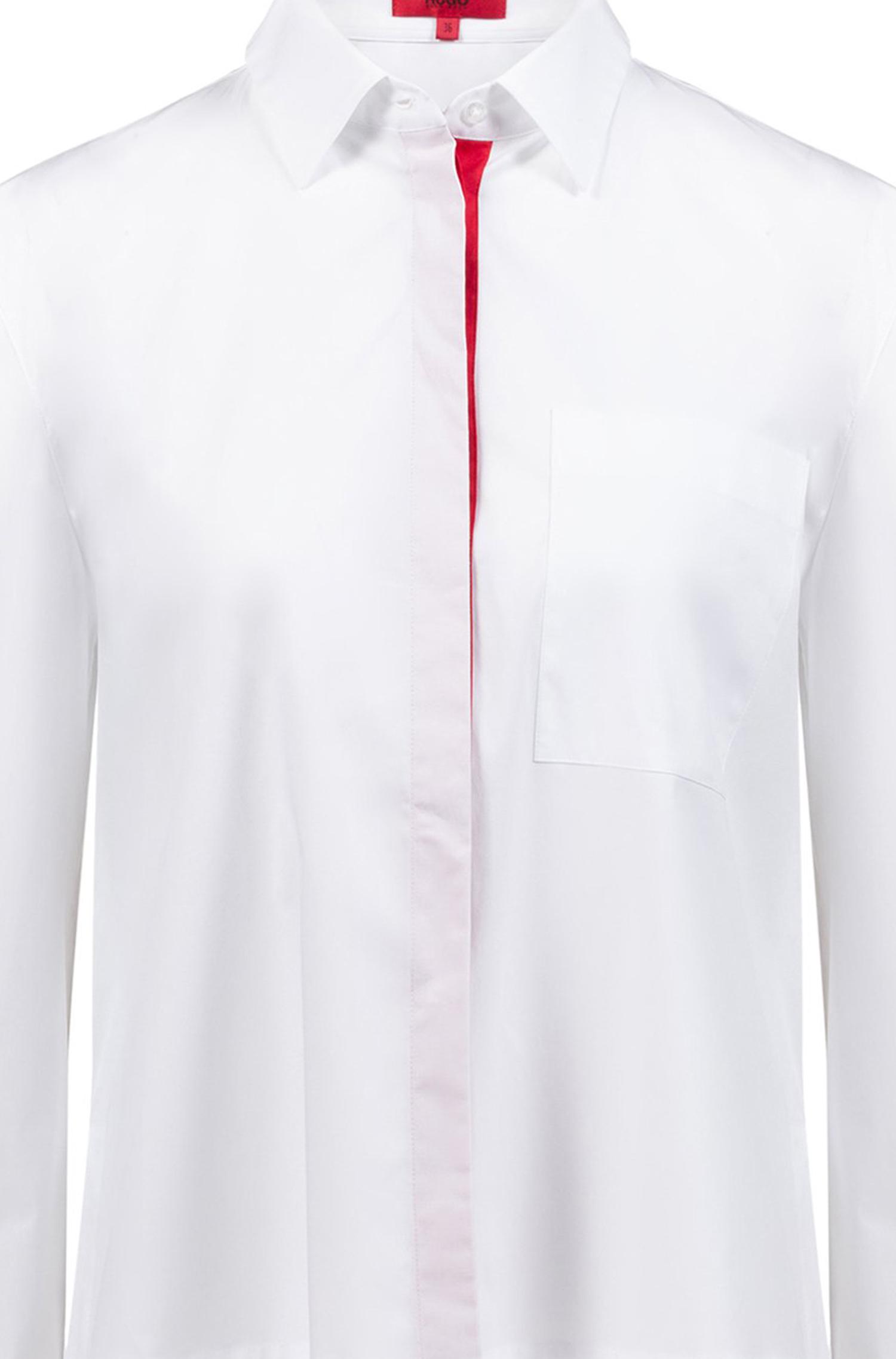 HUGO Casual Blause Eliv mit mit mit langem Saum hinten | Produktqualität  |   | Feinen Qualität  | Einzigartig  | Exquisite Handwerkskunst  628415