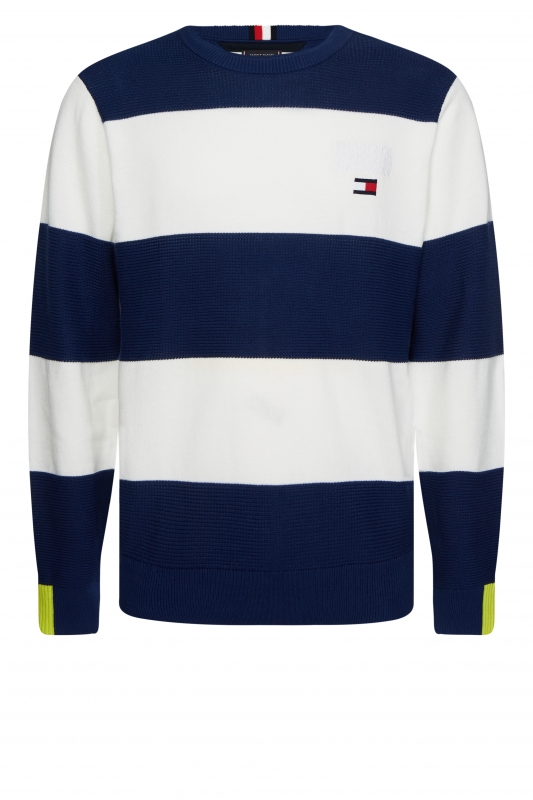Pullover Neon Tipped Striped