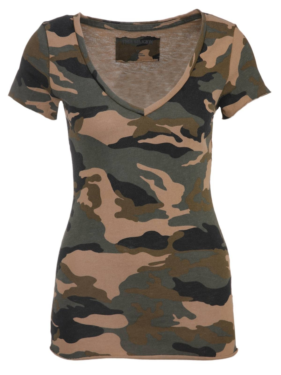 True Religion T-Shirt VNeck Camo