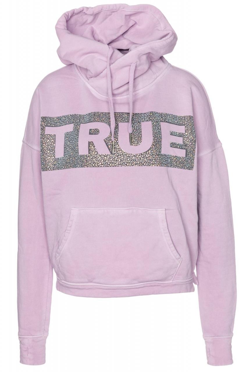 True Religion Hoodie Boxy Crop Logo