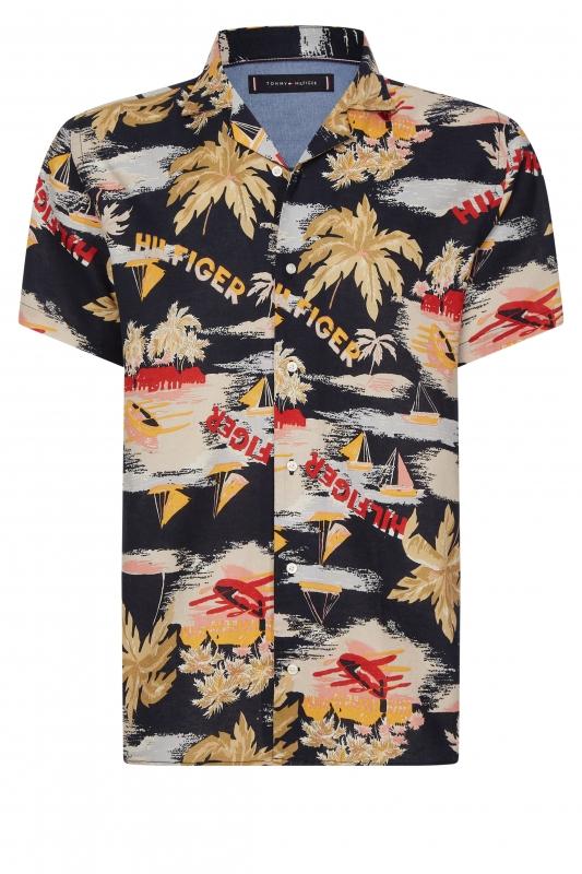 Kurzarm-Hemd Hawaiian Print