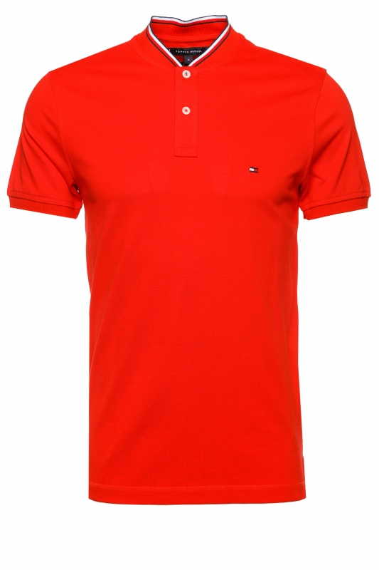 Poloshirt Baseball Collar Slim Polo