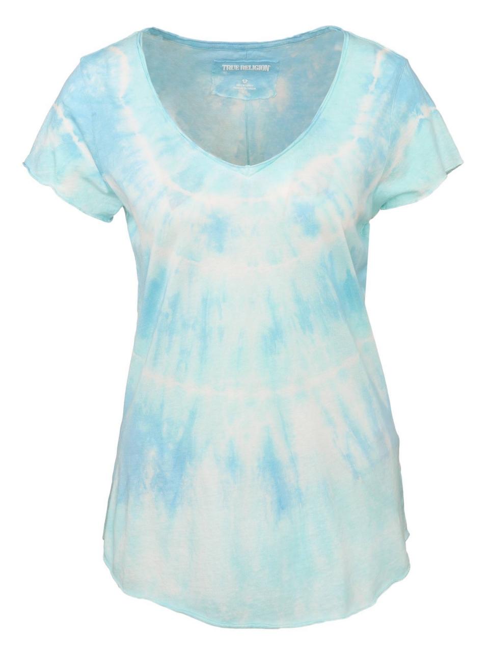 True Religion T-Shirt VNeck SS Rainbow