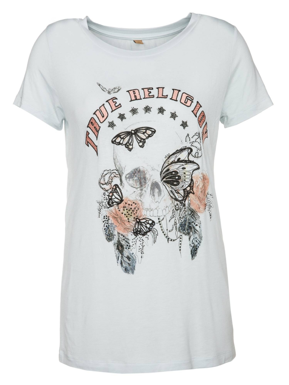 True Religion T-Shirt Butterfly Skull