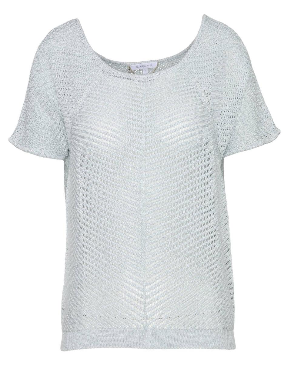 Patrizia Pepe T-Shirt mit Strick-Optik
