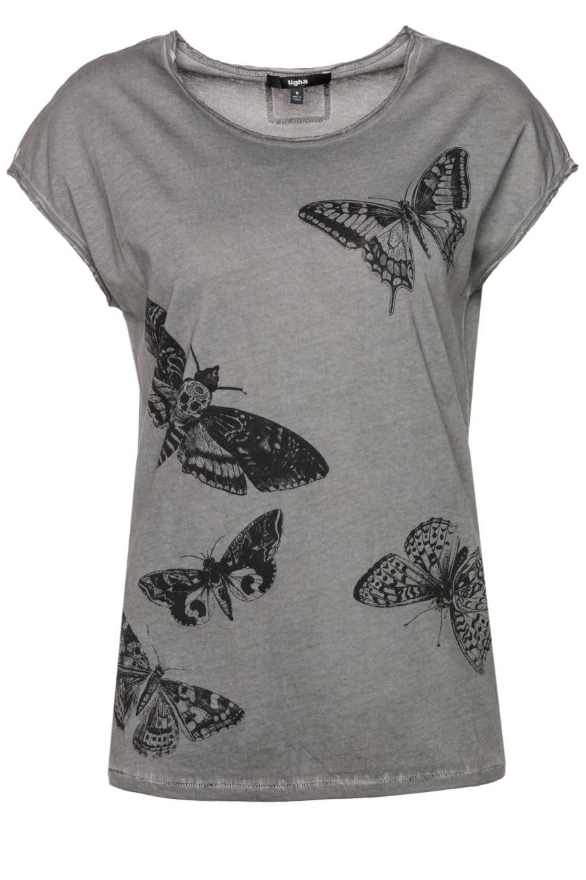 Tigha T-Shirt Skull moths WSN