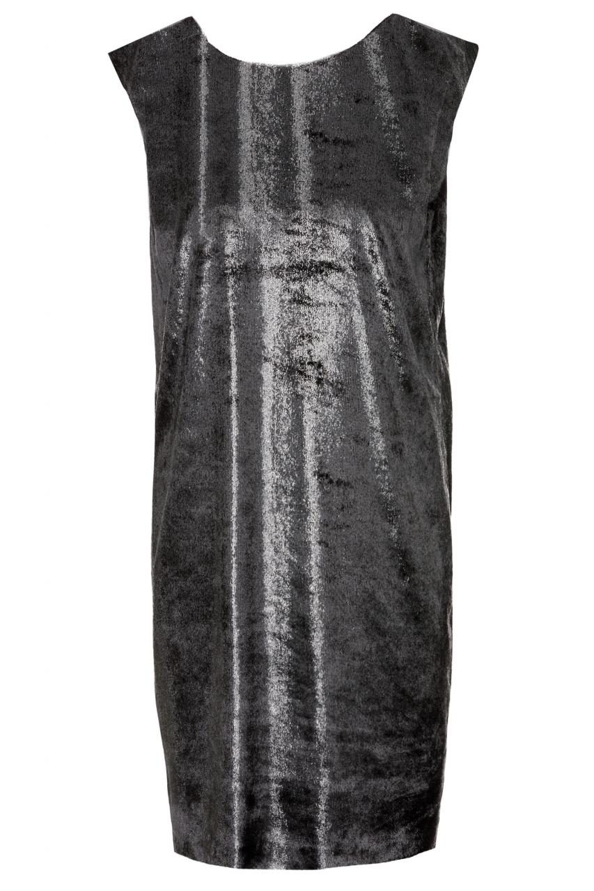 HUGO Samt-Kleid Komanu-1