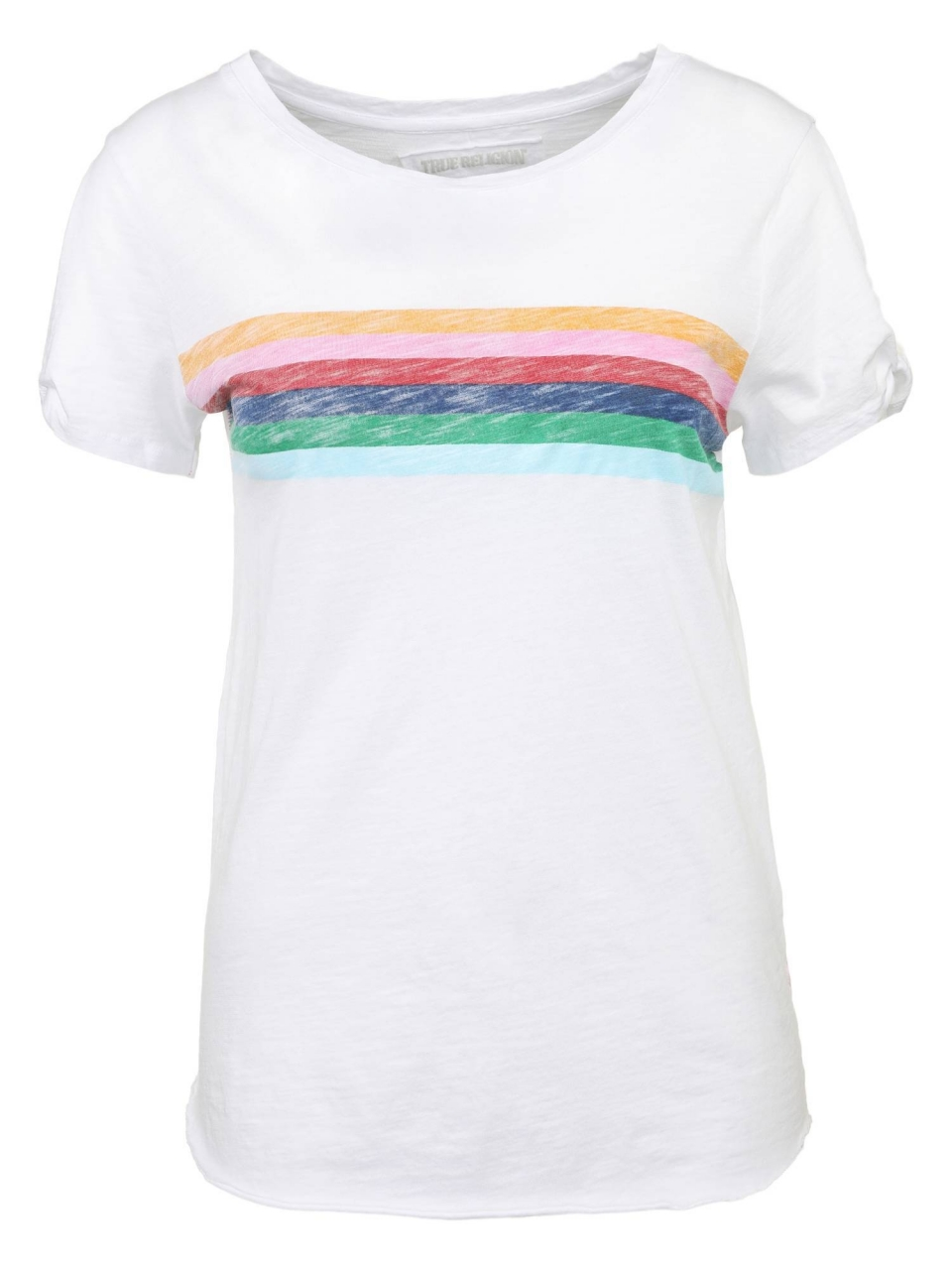 True Religion T-Shirt Rainbow Boyfriend SS