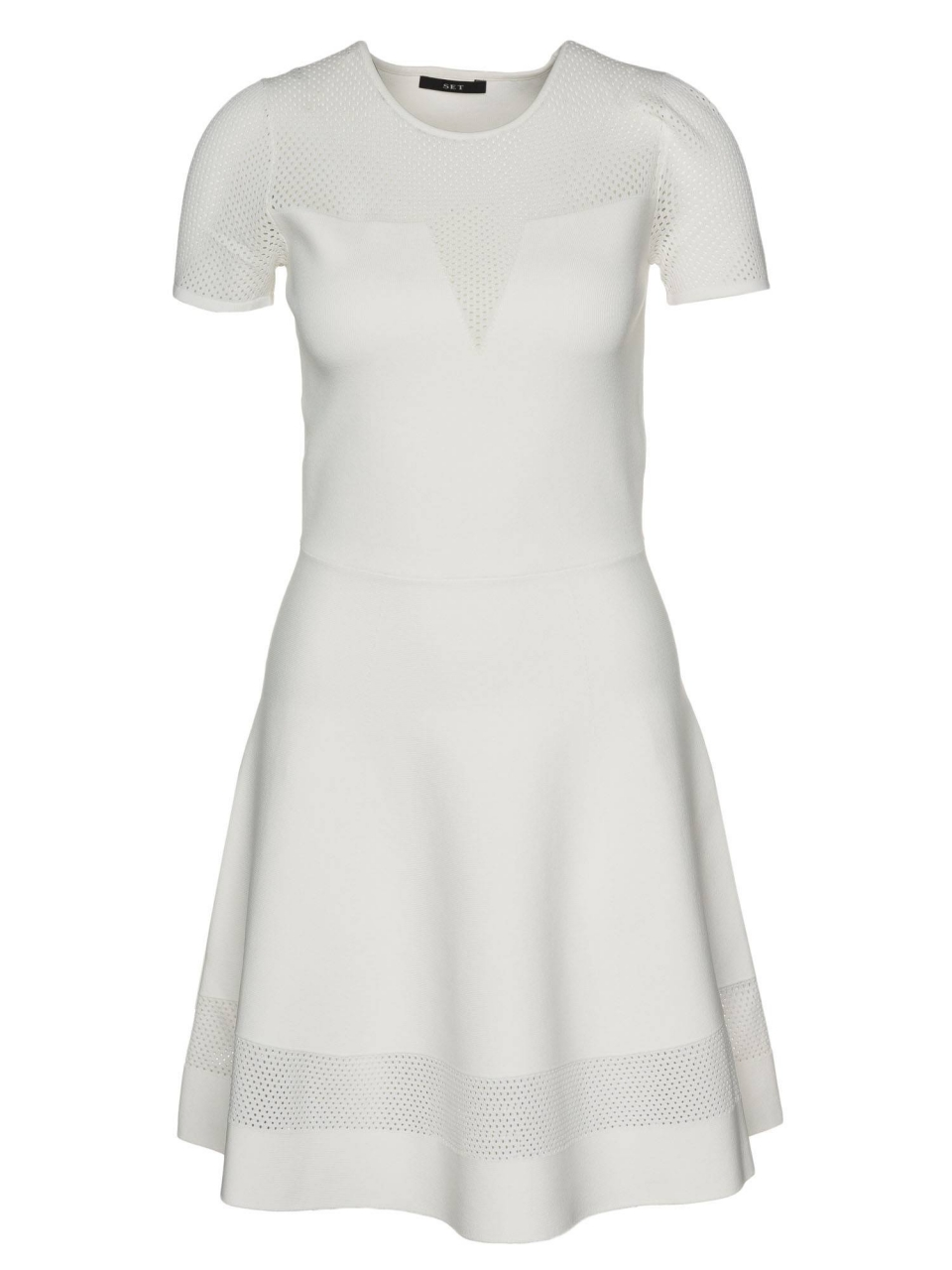 SET Kleid mit transparenten Einsätzen