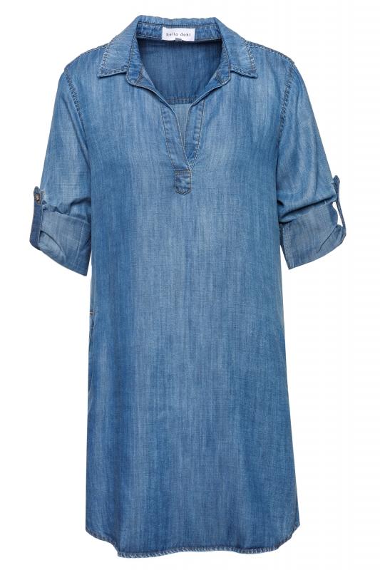 Kleid L/s A-line Shirt Dress Evening Mist